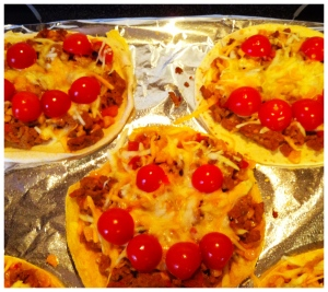 Happy Turkey Taco Pizzas
